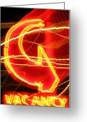 Iphonesia Greeting Cards - Vacancy Greeting Card by Mickey Hatt