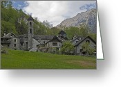 Mountain Texture Greeting Cards - Valle Bavona - Ticino Greeting Card by Joana Kruse
