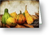Still Life Greeting Cards - Vegetable II Greeting Card by Angela Doelling AD DESIGN Photo and PhotoArt