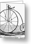 Penny Farthing Greeting Cards - Velocipede, 1869 Greeting Card by Granger
