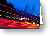 Blau Greeting Cards - Velocity Greeting Card by Thomas Splietker