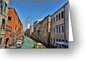 Venice Waterway Greeting Cards - Venice Waterway Greeting Card by Jon Berghoff