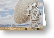 Antenna Greeting Cards - Very Large Array Antenna Greeting Card by Bryan Mullennix