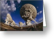 Antenna Greeting Cards - Very Large Array (vla) Radio Antennae Greeting Card by Dr Fred Espenak