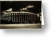 Stadium Greeting Cards - Veterans Stadium Greeting Card by Jack Paolini