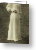 Natur Greeting Cards - Victorian Lady Greeting Card by Joana Kruse