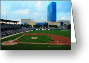 Baseball Parks Photo Greeting Cards - Victory Field Greeting Card by Rob Banayote