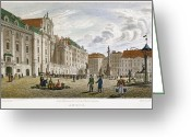 Viennese Greeting Cards - Vienna, 1822 Greeting Card by Granger