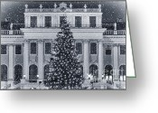 Wien Greeting Cards - Viennese Christmas Wonderland Greeting Card by Joan Carroll