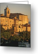 Christianity Photo Greeting Cards - Village de Gordes. Vaucluse. France. Europe Greeting Card by Bernard Jaubert