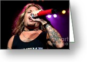Tommy Lee Greeting Cards - Vince Neil  Greeting Card by Christopher  Chouinard