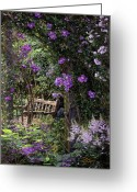 Respite Greeting Cards - Violet Garden Respite Greeting Card by Doug Kreuger