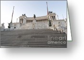 Staircase Greeting Cards - Vittoriano Monument to Victor Emmanuel II. Rome Greeting Card by Bernard Jaubert