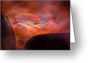 Flares Greeting Cards - Vortex Greeting Card by Corey Ford