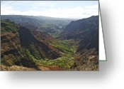 Waimea Greeting Cards - Waimea Canyon Greeting Card by Michael Peychich
