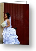  Woman In A Dress Photo Greeting Cards - Waiting for Him Greeting Card by Dorota Nowak