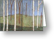 Winter Trees Ceramics Greeting Cards - Waiting for Spring Greeting Card by Jackie Ramo