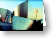 Downtown Disney Greeting Cards - Walt Disney Concert Hall Greeting Card by Ariane Moshayedi
