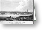 Cities Greeting Cards - Washington, D.c., 1800 Greeting Card by Granger