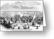 Cities Greeting Cards - Washington, D.c., 1853 Greeting Card by Granger