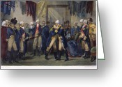 Commission Photo Greeting Cards - Washingtons Farewell Greeting Card by Granger