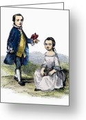 Custis Greeting Cards - Washingtons Stepchildren Greeting Card by Granger
