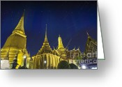 Siamese Photo Greeting Cards - Wat Phra Kaew Greeting Card by Anek Suwannaphoom