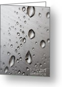 Stainless Steel Greeting Cards - Water Drops Greeting Card by Frank Tschakert
