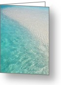 White Sand Greeting Cards - Water Meditation I. Five Elements. Healing with Feng Shui and Color Therapy in Interior Design Greeting Card by Jenny Rainbow