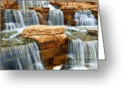 Stream Greeting Cards - Waterfall Greeting Card by Elena Elisseeva