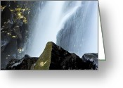 Cascades Greeting Cards - Waterfall in auvergne Greeting Card by Bernard Jaubert