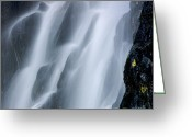 Cascades Greeting Cards - Waterfall of Vaucoux. Puy de Dome. Auvergne. France Greeting Card by Bernard Jaubert