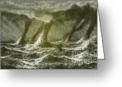 Spout Photo Greeting Cards - Waterspouts Greeting Card by Science Source