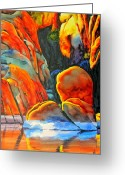 Watson Lake Greeting Cards - Watson Lake Greeting Card by Robert Hooper