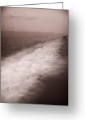 Black Cloud Greeting Cards - Wave Form Greeting Card by Steve Gadomski