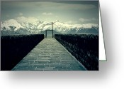 Snow Covered Greeting Cards - Way To Heaven Greeting Card by Joana Kruse