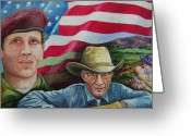 Patriotism Painting Greeting Cards - We Hold These Truths Greeting Card by Gale Cochran-Smith