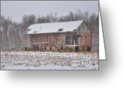 Ohio Country Greeting Cards - Weathered and Worn Greeting Card by Pamela Baker