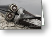 Shoot Greeting Cards - Webley and Scott 12 Gauge - D002721a Greeting Card by Daniel Dempster