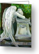 Wetmore Greeting Cards - Weeping Angel Greeting Card by Susan Santiago
