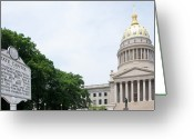 Legislature Greeting Cards - West Virginia State Capitol Greeting Card by Thomas R Fletcher