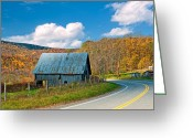 Reds Greeting Cards - West Virginia Wandering 6 Greeting Card by Steve Harrington