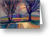 Western Pastels Greeting Cards - Western Landscape Greeting Card by Donald Maier