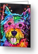 West Painting Greeting Cards - Westie Greeting Card by Dean Russo