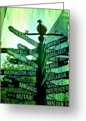 Pdx Greeting Cards - Where to go Greeting Card by Cathie Tyler