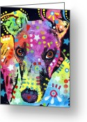 Pop Art Mixed Media Greeting Cards - Whippet Greeting Card by Dean Russo