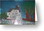 Series Glass Art Greeting Cards - wHITE hOUSE 2 Greeting Card by Maggie Cruser