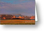 Rural Landscapes Greeting Cards - Wide-open spaces - Page Arizona Greeting Card by Christine Till