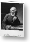 Autograph Greeting Cards - William Hunter (17178-1783) Greeting Card by Granger