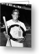Polo Grounds Greeting Cards - Willie Mays (1931-  ) Greeting Card by Granger